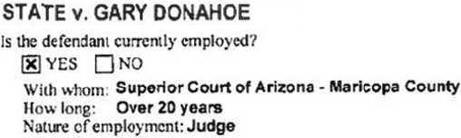 Gary Donahoe's charges